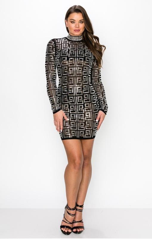Sequin geometric dress