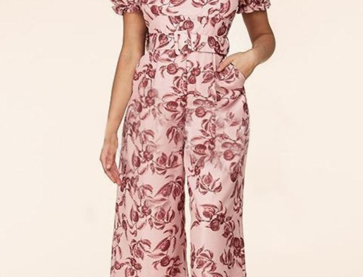 Flowers Print Jumpsuit