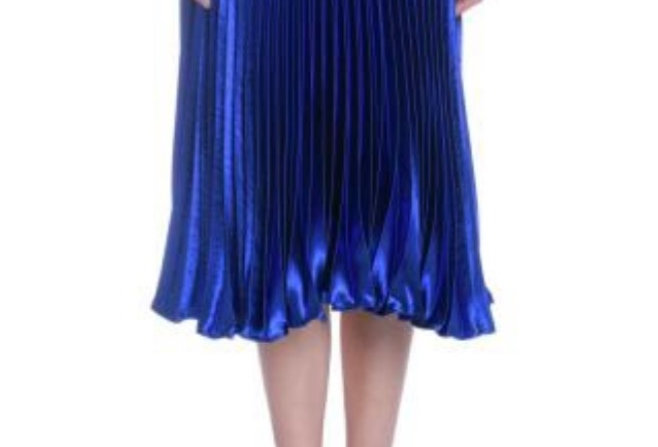Blue Metalic Skirt