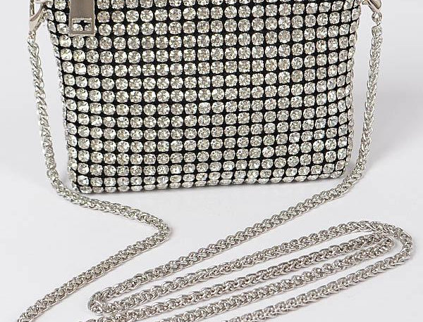 Crystals Silver Bag