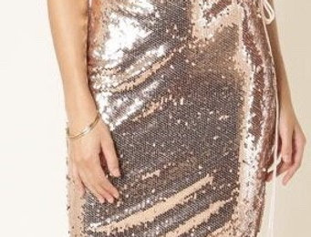 Rosegold Sequins Dress