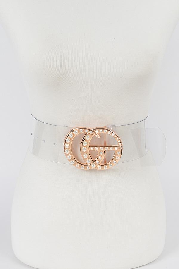 Transparent Perls Belt