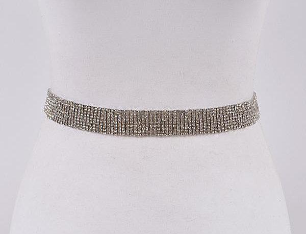 Silver Crystals Belt
