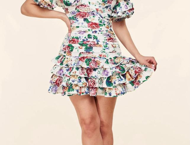 Vintage Summer Flowers Dress