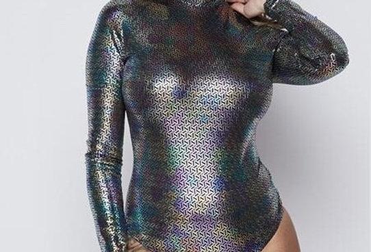 Iridescent Long Sleeve Bodysuit