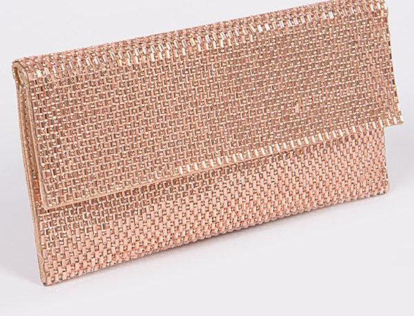Rose Gold Clutch Bag