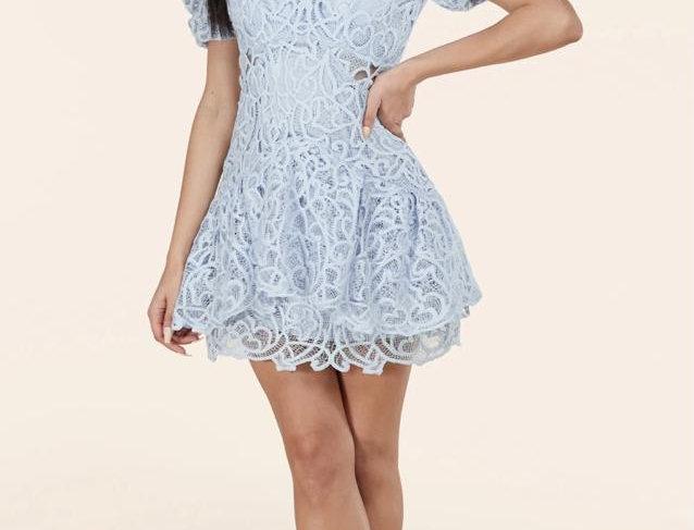 Sky Blue Mini Dress