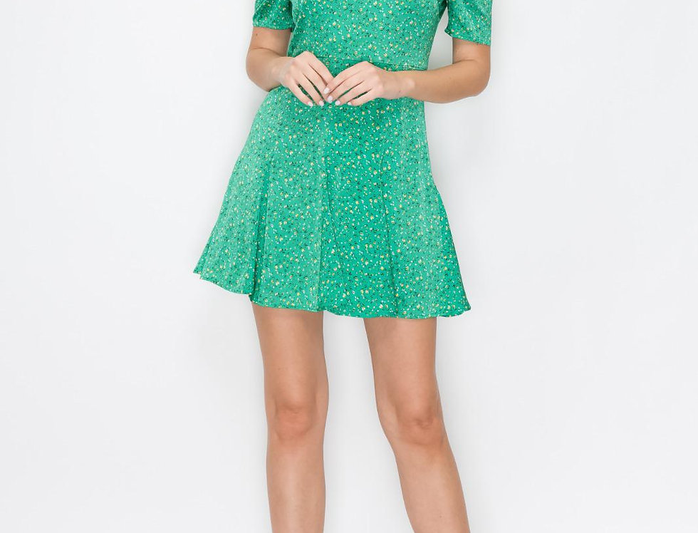 Flowers Green Dress