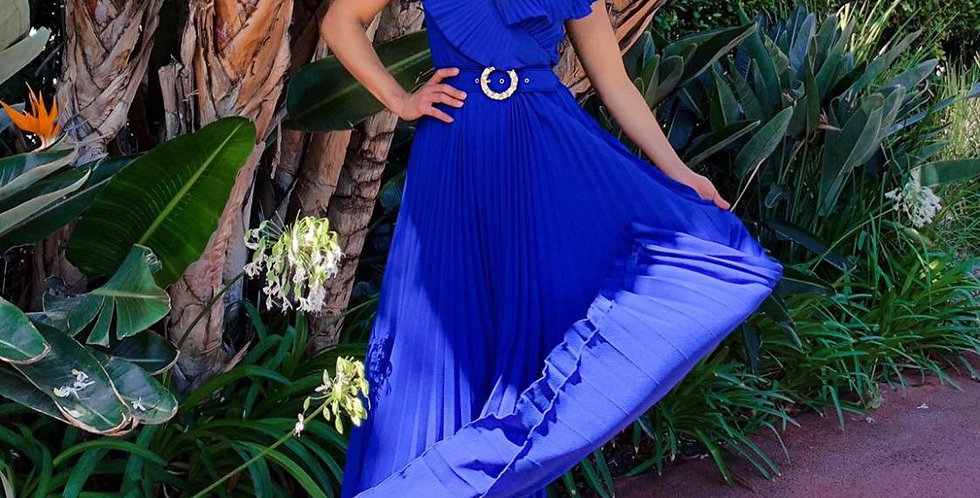 Royal Pleated Long Dress