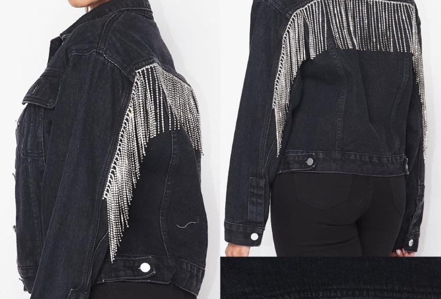 Crystals Fringed Jacket