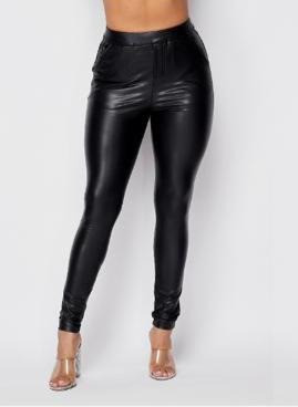 Synthetic Leather Pants
