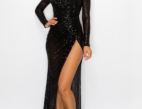 Open Leg Sequins Dress