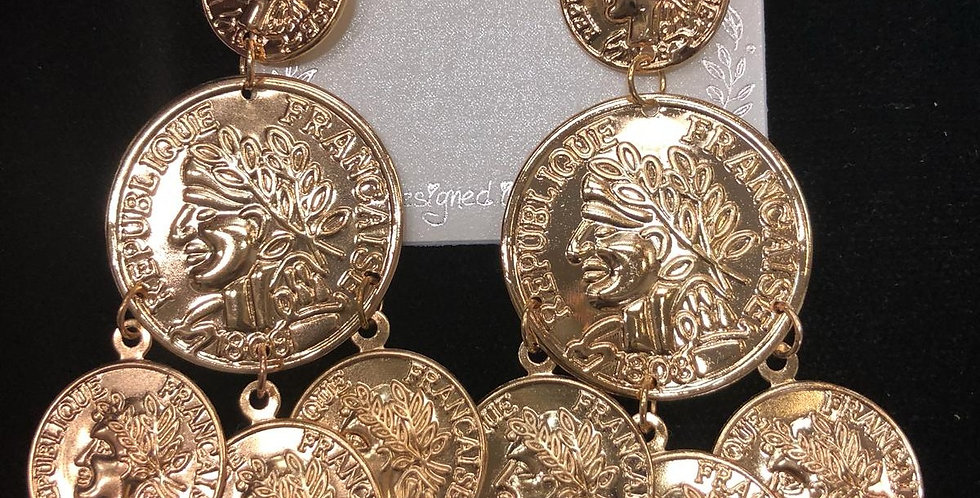 Golden Coins Earrings