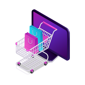 —Pngtree—online shopping isometric shopp