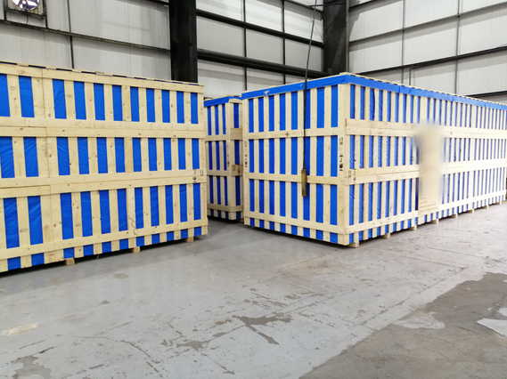 80T Machines Packed In Crates
