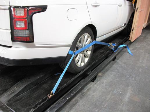 Range Rover Vogue Mounted to Steel Framework