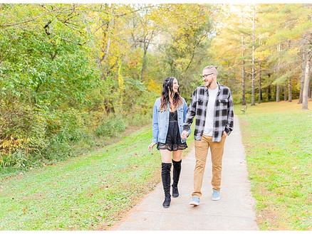 Caleb & Rachel | Fall Sugar Hollow Park Engagement Session - Bristol, VA | VA Wedding Photographer