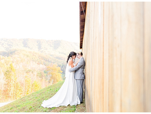 Gracee & Cruise | CSC Photography - Autumn Elopement | Mountain Mist Farm - Pigeon Forge, TN