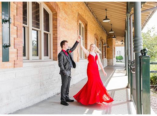 Derek & Madison - Prom 2020 | CSC Photography - Couples | Bristol Train Station - Bristol, VA