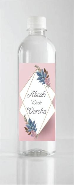 Akash Weds Varsha bottle