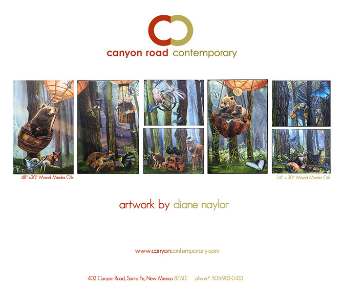 """""""The Benevolent Forest"""" at the Canyon Road Art Gallery in Santa Fe, NM"""