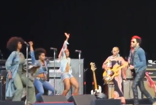 Lenny Kravitz's Manhood Pops Out Onstage in Sweden