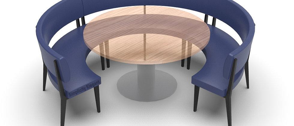 Simplicity Elegant - Round Booth Seating - Large 3/4 Circle
