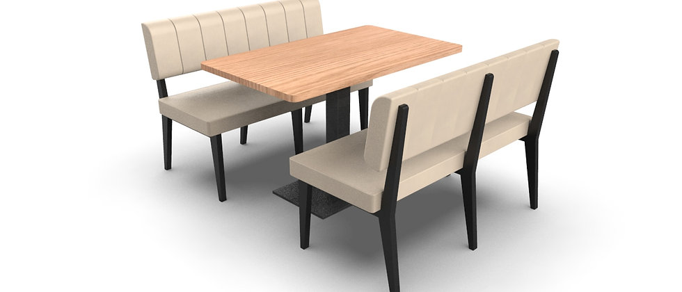 Simplicity Luxury - 4 Seater Booth Set & Table