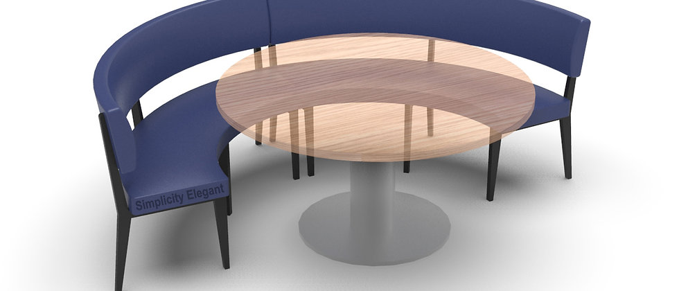 Simplicity Elegant - Round Booth Seating - Large 1/2 Circle