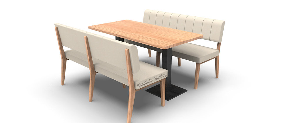 Simplicity Luxury - Complete 6 Seater 1500mm Booth Set & Table