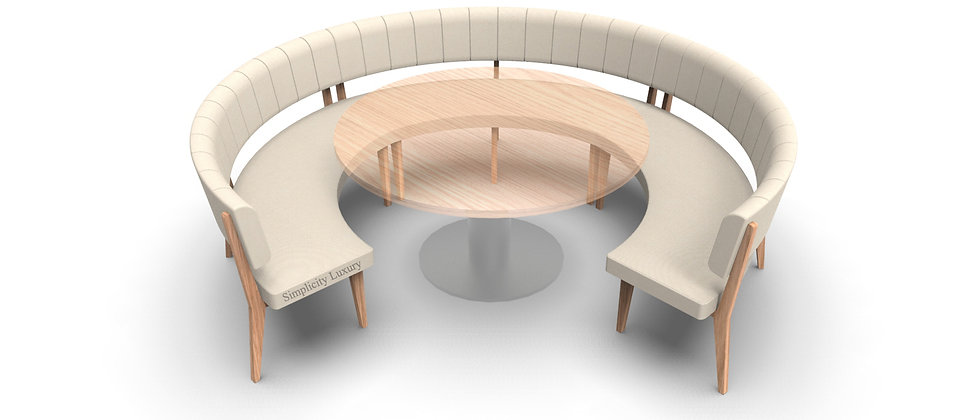 Simplicity Luxury - Round Booth Seating - Large 3/4 Circle