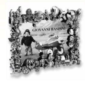 Giovanni Raspini Cornice Giochi Bronzo Bianco