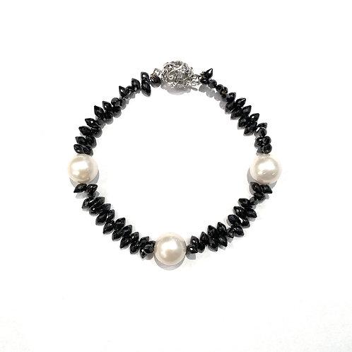 Bracciale OroBianco, Perle e Diamanti