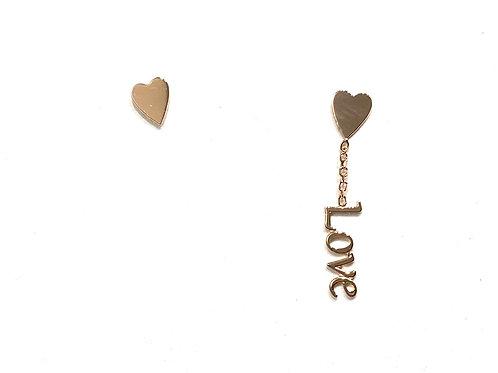 Orecchini oro Love