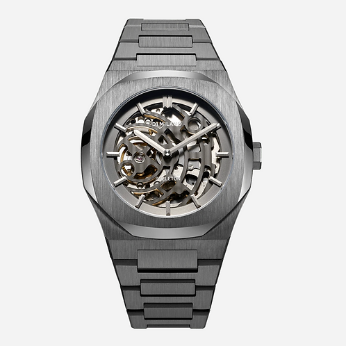 D1 SKELETON BRACELET 41.5 MM - GUN METAL