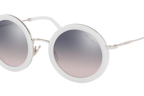 Occhiale da Sole Miu Miu 133GR0 Tondo Bianco