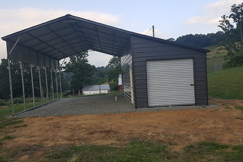 20'x36'x12' Vertical Roof Combo Unit