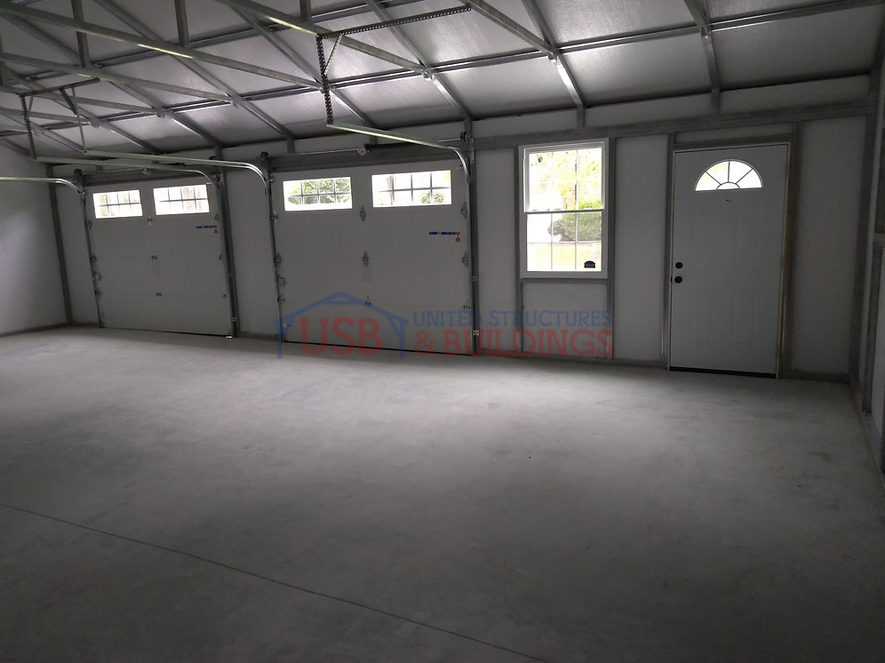 24 X32 X8 Custom Vertical Roof Garage Usb Garages And More