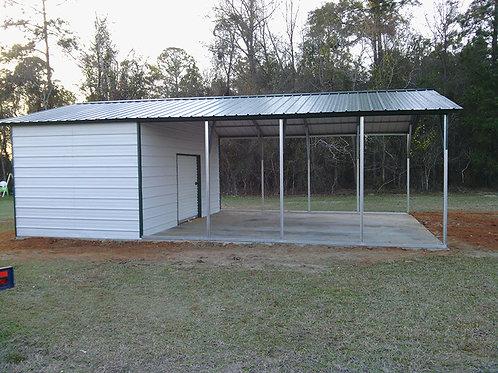 22x30x9 Carport + Storage Combo