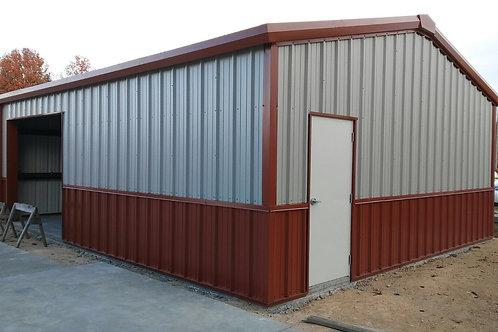 18x20x8 Vertical Two-Tone Garage