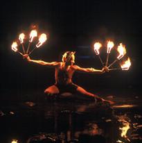 Chris Morant - Fire Fan Dance