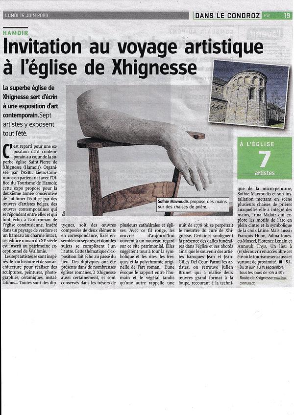 Article de presse Xhignesse_20200615_000