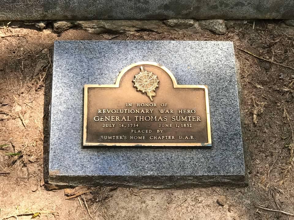 Thomas Sumter DAR Grave Marker