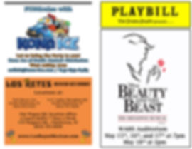 Beauty and the Beat Playbill - Back & Co