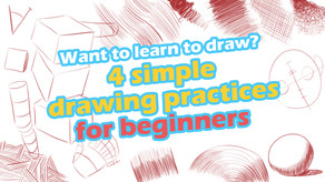 Want to learn to draw? 4 simple drawing practices for beginners