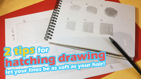 2 tips for hatching drawing, let your lines be as soft as your hair!