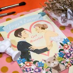 江&陳結婚邀請卡