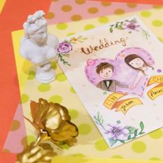 林&陳結婚邀請卡