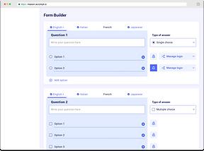 Accompli modular questionnaire builder