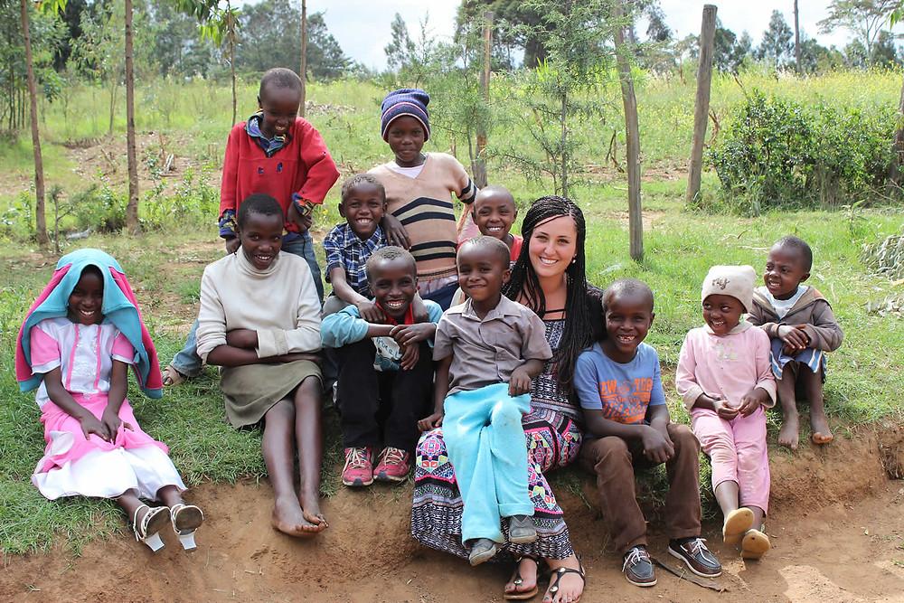 Volunteering with children in Africa
